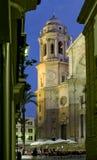 Cattedrale di Cadice La Catedral Vieja, Iglesia de Santa Cruz Fotografia Stock