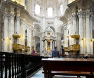 Cattedrale di Cadice La Catedral Vieja, Iglesia de Santa Cruz L'Andalusia, Spagna Fotografia Stock Libera da Diritti