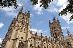 Cattedrale di Canterbury, altezza laterale Fotografia Stock Libera da Diritti