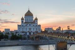 Cattedrale di Christ il salvatore a Mosca, Russia Fotografia Stock