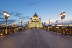 Cattedrale di Christ il salvatore a Mosca, Russia Fotografie Stock
