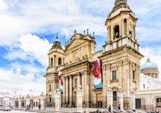 Cattedrale di Città del Guatemala in Plaza de la Constitucion, Guatema immagine stock libera da diritti