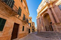 Cattedrale di Ciutadella Menorca a Ciudadela Balearic Island fotografie stock