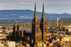 Cattedrale di Clermont-Ferrand Fotografia Stock Libera da Diritti