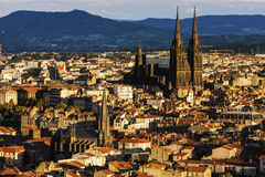 Cattedrale di Clermont-Ferrand Fotografie Stock