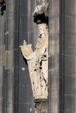 Cattedrale di Colonia della scultura Fotografie Stock Libere da Diritti