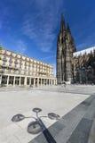 Cattedrale di Colonia ed ombra, Germania Fotografie Stock Libere da Diritti