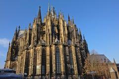 Cattedrale di Colonia o alta cattedrale di St Peter, vista dalla parte posteriore Fotografia Stock