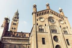 Cattedrale di Cremona su Piazza del Comune a Cremona fotografia stock libera da diritti