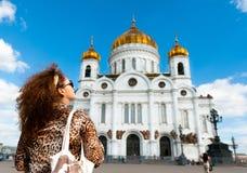 Cattedrale di Cristo il salvatore a Mosca, Russia Immagini Stock Libere da Diritti