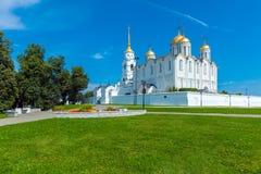 Cattedrale di Dormition (1160) in Vladimir, Russia Immagine Stock