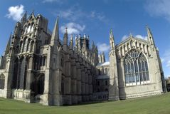 Cattedrale di Ely dall'est Immagine Stock Libera da Diritti