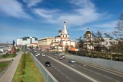 Cattedrale di epifania Città di Irkutsk Fotografie Stock Libere da Diritti