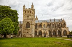Cattedrale di Exeter (chiesa della cattedrale di St Peter) exeter devon l'inghilterra fotografie stock