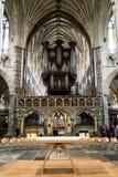 Cattedrale di Exeter - piccolo altare con gli organi Immagine Stock Libera da Diritti