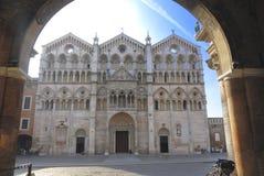 Cattedrale di Ferrara immagine stock