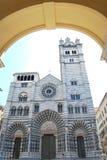 Cattedrale di Genova fotografie stock libere da diritti