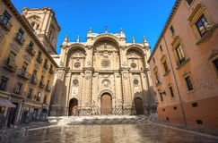 45 - cattedrale di Granada Plaza Pasiegas, Granada, Andalusia, Spagna Immagine Stock Libera da Diritti