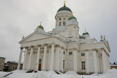 Cattedrale di Helsinki un giorno di inverno nuvoloso a Helsinki, Finlandia Fotografia Stock Libera da Diritti