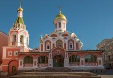 Cattedrale di Kazan Kazansky al quadrato rosso a Mosca, Russia Fotografia Stock Libera da Diritti
