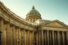 Cattedrale di Kazan in San Pietroburgo fotografie stock libere da diritti