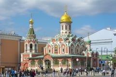 Cattedrale di Kazan sul quadrato rosso, Mosca, Russia Fotografia Stock Libera da Diritti