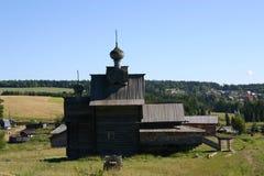 Cattedrale di legno Fotografia Stock