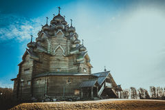 Cattedrale di legno Immagini Stock Libere da Diritti