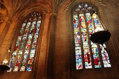 Cattedrale di Leon, Spagna Fotografia Stock Libera da Diritti