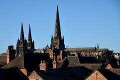 Cattedrale di Lichfield Immagini Stock