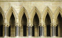 Cattedrale di Lincoln della colonnato Fotografie Stock Libere da Diritti