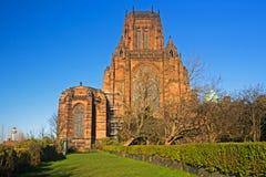 Cattedrale di Liverpool costruita sul supporto di St James a Liverpool Fotografie Stock Libere da Diritti