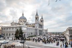 Cattedrale di Madrid Immagine Stock Libera da Diritti