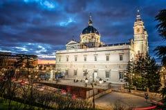 Cattedrale di Madrid Immagini Stock