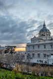 Cattedrale di Madrid Fotografie Stock Libere da Diritti
