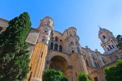 Cattedrale di Malaga Immagini Stock Libere da Diritti