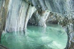 Cattedrale di marmo, generale Carrera Lake, Cile Fotografie Stock