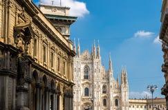 Cattedrale di Milano dei Di del duomo sul quadrato di Piazza del Duomo, Milano, AIS immagini stock