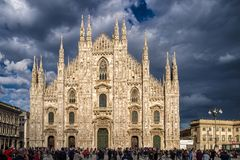 Cattedrale di Milano, Italia Fotografia Stock