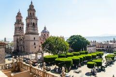 Cattedrale di Morelia in Michoacan Messico fotografia stock libera da diritti