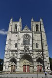 Cattedrale di Nantes, regione della Loira, Francia Fotografia Stock Libera da Diritti