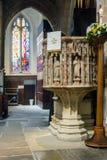 Cattedrale di Newcastle, chiesa della cattedrale della st Nicholas Pulpit immagine stock