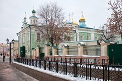 Cattedrale di Nikolsky a Kazan Fotografia Stock Libera da Diritti