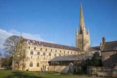 Cattedrale di Norwich Immagine Stock Libera da Diritti