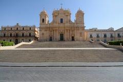 Cattedrale di Noto nell'isola della Sicilia Immagini Stock Libere da Diritti