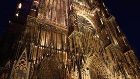 Cattedrale di Notradame nello strasburg fotografia stock