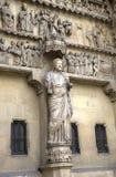 Cattedrale di Notre-Dame de Reims Elementi della decorazione Reims, Francia Fotografie Stock Libere da Diritti