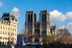 Cattedrale di Notre-Dame a Parigi Fotografia Stock