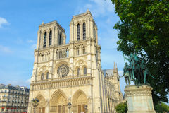 Cattedrale di Notre Dame a Parigi fotografia stock libera da diritti