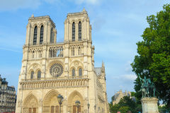 Cattedrale di Notre Dame a Parigi fotografie stock